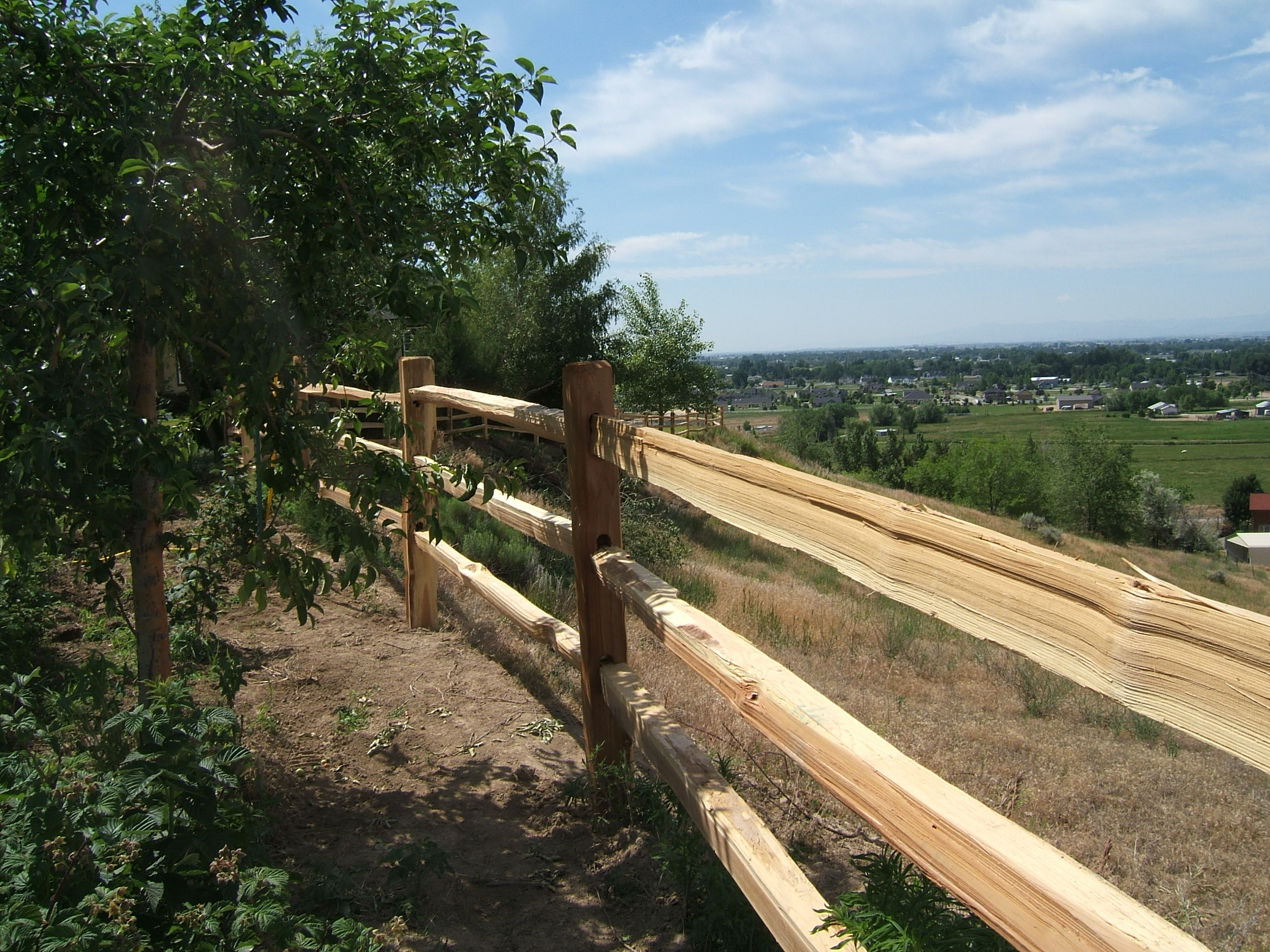 Fencing Split Cedar Fences Parma Post And Pole