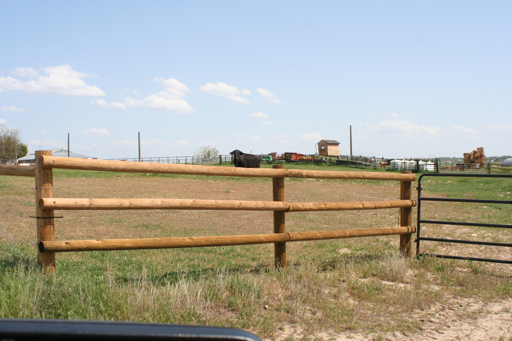 Post And Pole Fencing : Nail rail fencing wood fences parma post and pole
